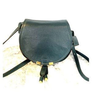 Chloé mini Marcie round crossbody teal green bag